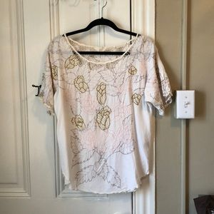 Embroidered and cut out Minkpink tunic
